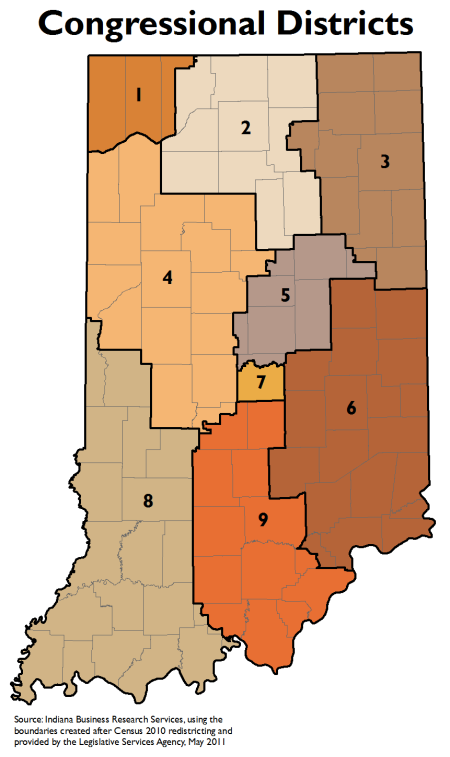 Indiana Congressional districts